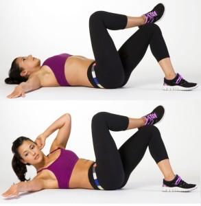 ventre plat exercice oblique